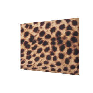 Surface of spotted feline stretched canvas print
