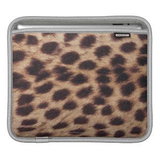 Surface of spotted feline iPad sleeves