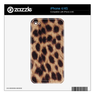 Surface of spotted feline iPhone 4S skins