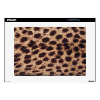 Surface of spotted feline laptop skin