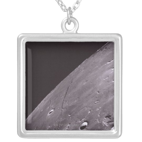 Surface of the Moon 4 Silver Plated Necklace