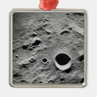 Surface of the Moon Metal Ornament