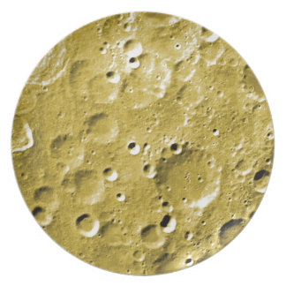 Surface of the moon plate