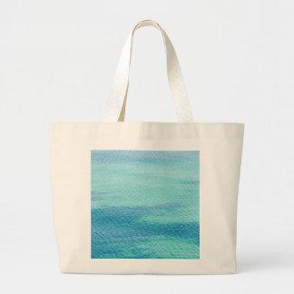 Surface sea water large tote bag