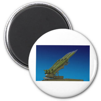 surface to air, anti aircraft missile 2 inch round magnet