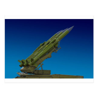 surface to air, anti aircraft missile postcard