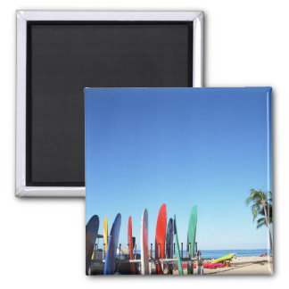 Surfboard 2 Inch Square Magnet