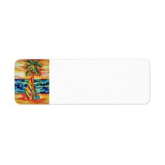 Surfboard and Guitar Return Label Return Address Label