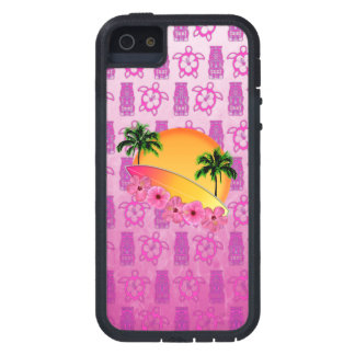 Surfboard and Hibiscus Flowers iPhone SE/5/5s Case