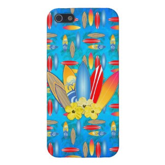 Surfboard and Hibiscus Flowers iPhone SE/5/5s Cover