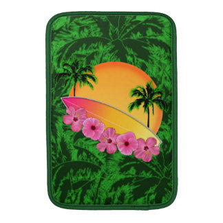 Surfboard and Hibiscus Flowers Sleeve For MacBook Air