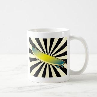surfboard button classic white coffee mug
