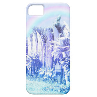 Surfboard Fence in Pastel Blue iPhone SE/5/5s Case