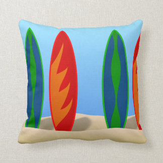 Surfboard Graphic Pillows