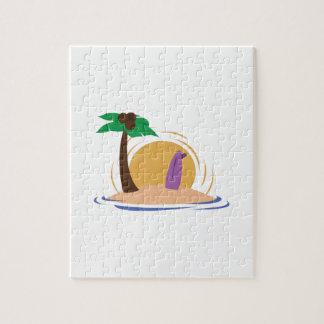 Surfboard Island Jigsaw Puzzle