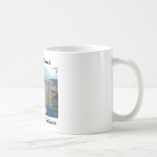 Surfboard Menorah Coffee Mug