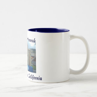 Surfboard Menorah Two-Tone Coffee Mug