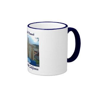 Surfboard Menorah Ringer Coffee Mug