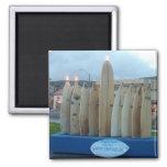 Surfboard Menorah Refrigerator Magnets
