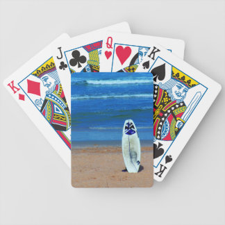 Surfboard On Beach Bicycle Playing Cards