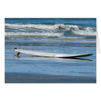 Surfboard on Beach Card