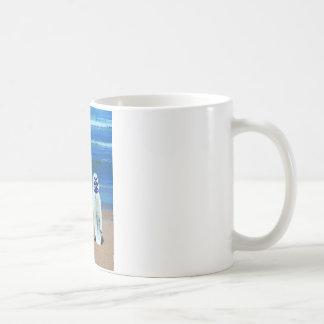 Surfboard On Beach Coffee Mug