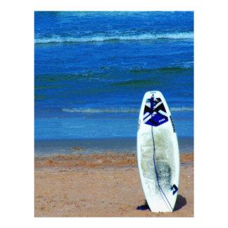Surfboard On Beach Letterhead