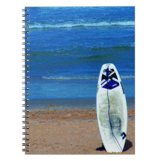 Surfboard On Beach Notebook