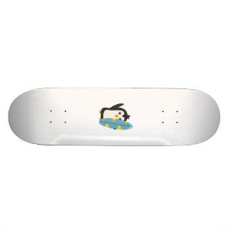 Surfboard Penguin Skateboard Deck