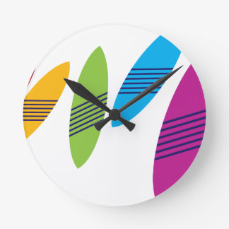 Surfboard Round Clock