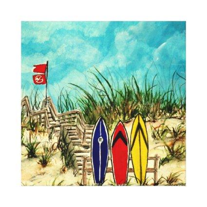 surfboard surf art beach oil painting canvas print
