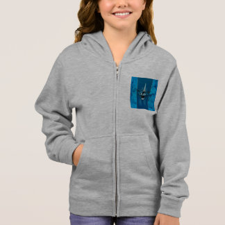 Surfboard with decorative floral elements hoodie