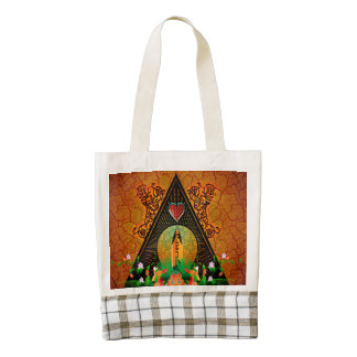 Surfboard with flowers and floral elements zazzle HEART tote bag