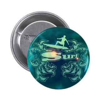 Surfboarder Pinback Button