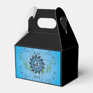 Surfboarder en fondo azul cajas para regalos de fiestas