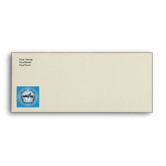 Surfboarder with decorative floral elements envelopes