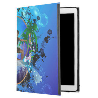 """Surfboarder with water splash and flowers iPad pro 12.9"""" case"""