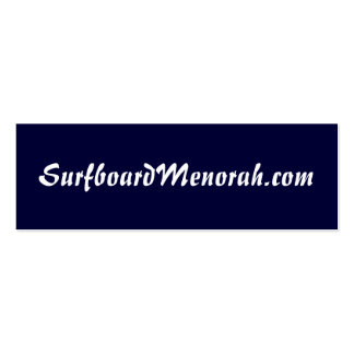 SurfboardMenorah.com Double-Sided Mini Business Cards (Pack Of 20)