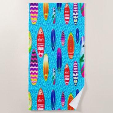 Beach Themed Surfboards 1 Beach Towel