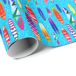 Surfboards 1 Wrapping Paper