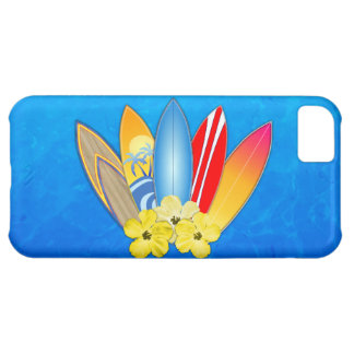 Surfboards And Hibiscus Cover For iPhone 5C