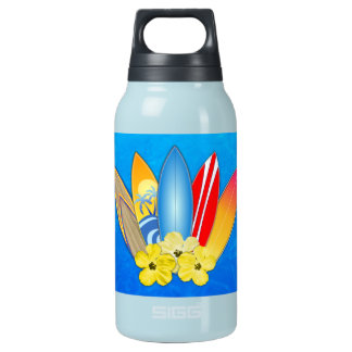 Surfboards And Hibiscus Insulated Water Bottle