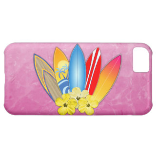 Surfboards And Hibiscus iPhone 5C Cover