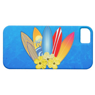 Surfboards And Hibiscus iPhone SE/5/5s Case