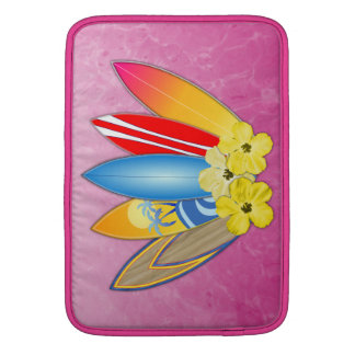 Surfboards And Hibiscus Sleeve For MacBook Air