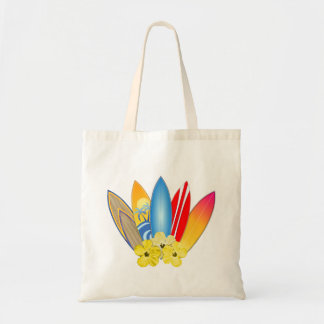 Surfboards And Hibiscus Tote Bag