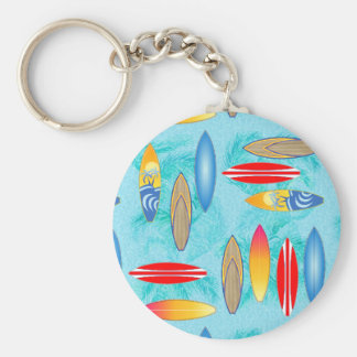 Surfboards And Palm Trees Keychain