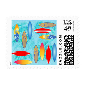 Surfboards And Palm Trees Postage Stamps