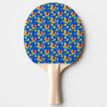 Surfboards And Tiki Mask Ping Pong Paddle