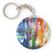 Surfboards at the beach keychain